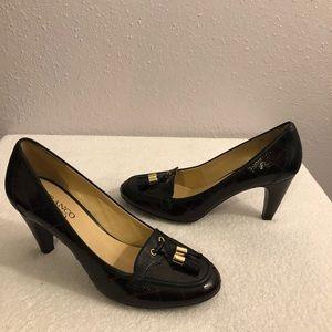 Shoes - FRANCO SARTO BLACK HEELS WITH TASSELS